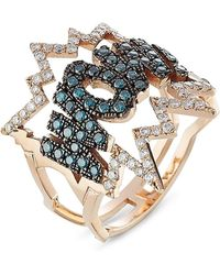 Diane Kordas - Wow! 18kt Rose Gold Ring With Diamonds - Lyst