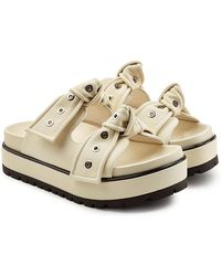 Alexander McQueen - Eyelet Leather Sandals - Lyst