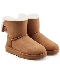 UGG - Suede Ankle Boots With Shearling Insole - Lyst