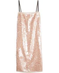 N°21 - Sequin-embellished Silk Dress - Lyst