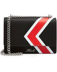 Karl Lagerfeld - Sac porté épaule en cuir K/Stripes - Lyst