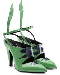 CALVIN KLEIN 205W39NYC - Kai Patent Leather Sandals - Lyst