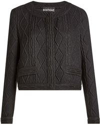 Boutique Moschino - Cardigan With Wool - Lyst