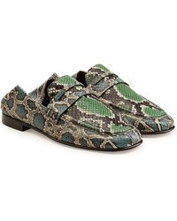 Isabel Marant | Fezzy Snake Printed Leather Loafers | Lyst