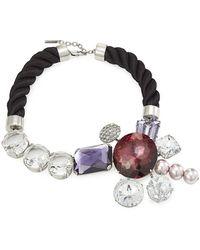 Marc Jacobs - Kette mit Kristallen und Perlen - Lyst