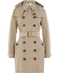 Burberry Brit - Waterproof Trench Coat With Hood - Beige - Lyst