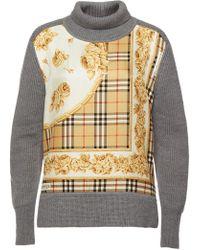 Burberry - Bennachie Turtleneck Pullover In Merino Wool And Silk - Lyst