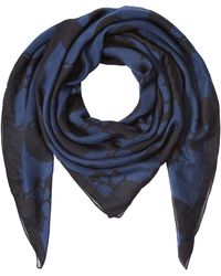 The Kooples - Blue/white Skull Scarf - Lyst