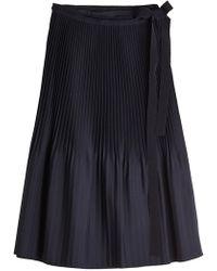 Jil Sander Navy - Pleated Skirt With Wool - Lyst