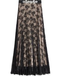 Christopher Kane - Lace Skirt With Embellishment - Lyst