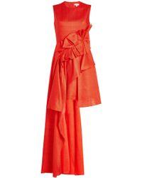 Delpozo - Asymmetrisches Kleid mit Drapierungen - Lyst