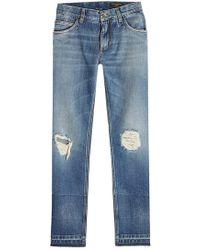 Dolce & Gabbana - Distressed Slim Jeans - Lyst