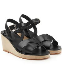 A.P.C. - Judith Leather Sandals - Lyst