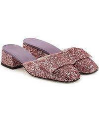Victoria Beckham - Harper Glitter Sandals - Lyst