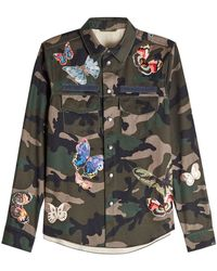 Valentino - Printed Cotton Shirt With Patches - Lyst
