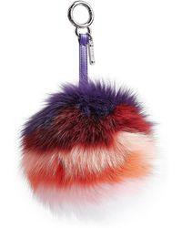 Fendi - Pompom Fox Fur Keychain - Lyst