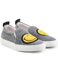 Joshua Sanders - Felted Wool Slip-on Sneakers - Lyst