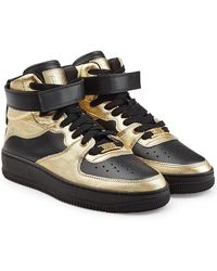 RED Valentino | High-top Leather Trainers | Lyst