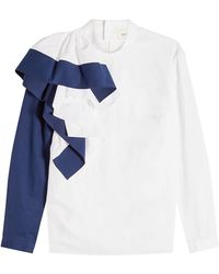 Delpozo - Cotton Blouse With Ruffles - Lyst