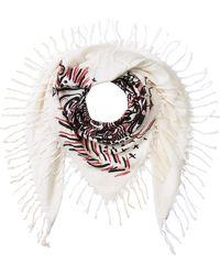 Burberry - Doodle Print Silk-cotton Scarf - Lyst