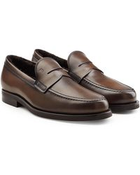 Tod's | Leather Loafers With Shearling | Lyst