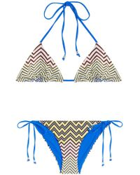 Missoni - Chevron Knit Bikini - Lyst