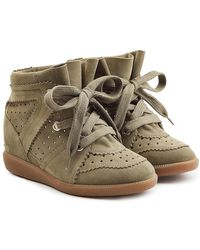 Isabel Marant - Suede Wedge Trainers - Lyst