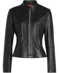 HUGO - Linotte Leather Jacket - Lyst