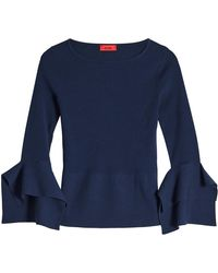 HUGO - Knit Pullover With Flared Sleeves - Lyst