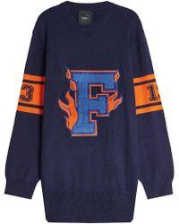 PUMA - Wool Varsity Sweater Dress - Lyst