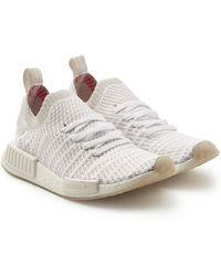 9ac7d1d091 adidas Originals Damen Nmd_r1 Stlt Primeknit Sneakers Ecru - Lyst