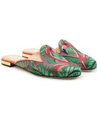 Charlotte Olympia - Flamingo Loafer Slippers - Lyst