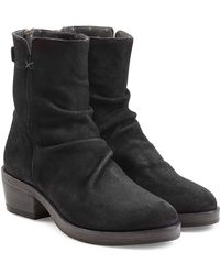 Fiorentini + Baker - Sueded Leather Back Zip Boots - Lyst