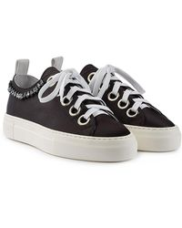 N°21 - Gymnic Satin Trainers With Embellishment - Lyst