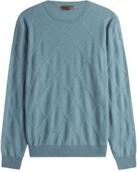 Etro - Wool Diamond Patterned Pullover - Lyst