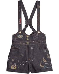 Valentino - Denim Playsuit - Lyst