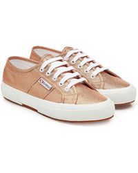 Superga - 2750 Lamew Metallic Trainers - Lyst