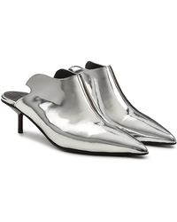 Marques'Almeida - Metallic Leather Mules - Lyst