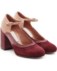 L'Autre Chose - Suede Court Shoes - Lyst