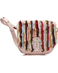 Paula Cademartori - Leather Shoulder Bag With Fur - Lyst