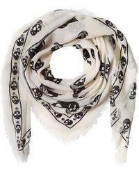 Alexander McQueen   Silk Skull Printed Scarf   Lyst