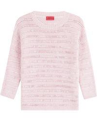 HUGO - Cotton Pullover - Lyst