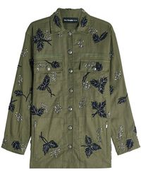 The Kooples - Embellished Cotton Jacket - Lyst
