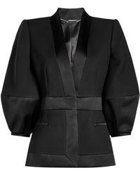 Alexander McQueen - Blazer In Wool And Silk - Lyst