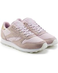 Reebok - Mesh And Suede Trainers - Lyst
