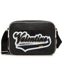 Valentino - Sac sacoche en cuir avec logo appliqué - Lyst