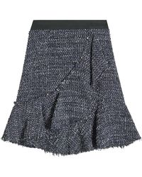 Karl Lagerfeld - Sparkle Boucle Skirt With Wool - Lyst