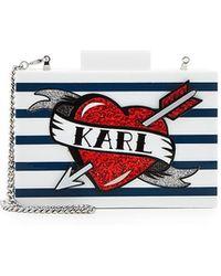 Karl Lagerfeld | Captain Karl Box Clutch | Lyst