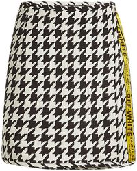 702e7e625e23 Off-White C O Virgil Abloh Checked Tweed Mini Skirt in Gray - Lyst