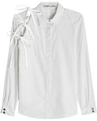Sandy Liang - Lena Cotton Shirt With Bows - Lyst